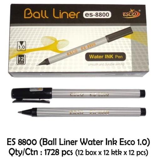 Foto Produk Pulpen / Pena / Pen ESCO Ballpoint Ball Liner 1 mm ES 8800 - 1 pcs dari Wahana Serba Ada