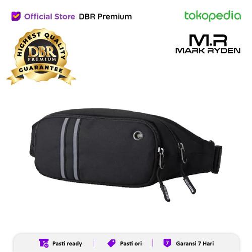 Foto Produk WAIST BAG PRIA TAS PINGGANG SLINGBAG MARK RYDEN MR5606 100% ORIGINAL - Hitam dari DBR Premium