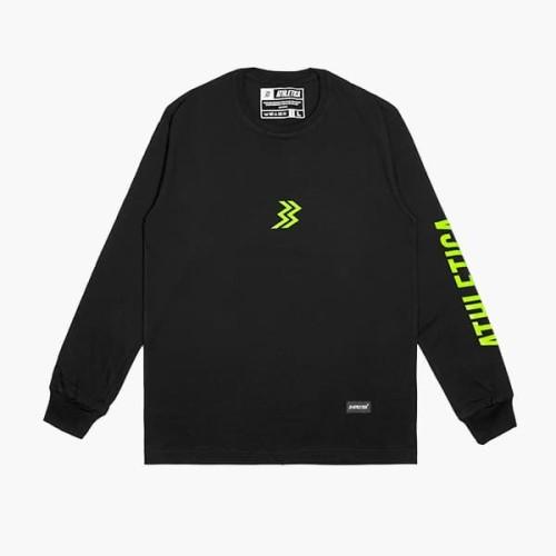 Foto Produk Athletica By Geoff Max - Asertive Long Sleeve Black | T-Shirt Pria - M dari Geoff Max Official