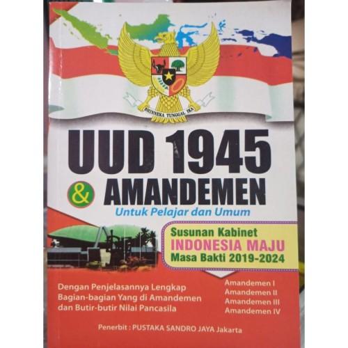 Foto Produk Buku UUD 1945 & Amandemen/ Buku Undang-Undang 45 Besar dari Toko Buku Melati