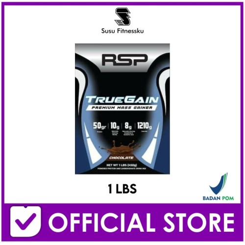 Foto Produk RSP True Gain 1 Lb Mass / Weight Gainer for Serious Bodybuilder dari Susu fitnessku