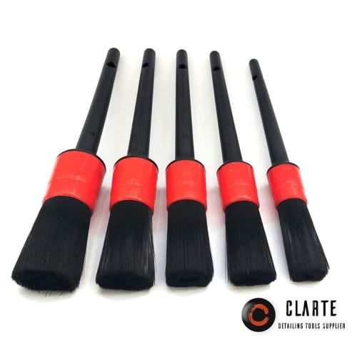 Foto Produk detailing brush 5pcs kuas detailing gagang plastik 1 set dari CLARTE DETAILING TOOLS