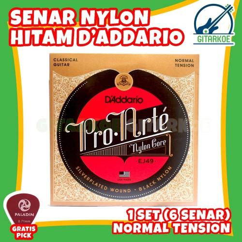 Foto Produk Senar Gitar Nylon Daddario Nilon Klasik Classic Akustik 1 Set EJ49 dari gitarkoe
