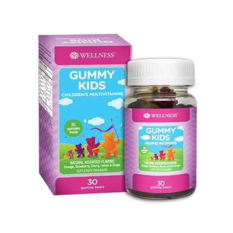 Foto Produk WELLNESS - GUMMY KIDS, multivitamin, iodine dan zinc untuk anak - 30 GUMMY dari Click&Click Home