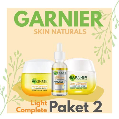 Foto Produk Garnier Light Complete Paket 2 (Booster Serum, Cream, Sleeping Mask) - sakura dari Talina Mart