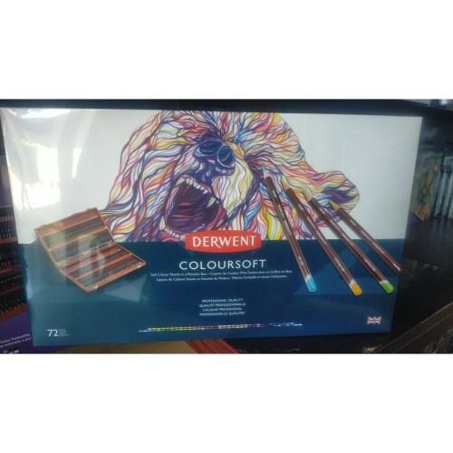 Foto Produk Derwent Coloursoft Pencils Color Set 72 Wooden Box dari Artemedia Shop