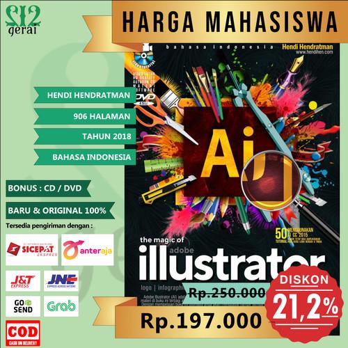 Foto Produk TERMURAH ORIGINAL Buku Adobe Illustrator Plus DVD - Hendi Hendratman dari Gerai 212