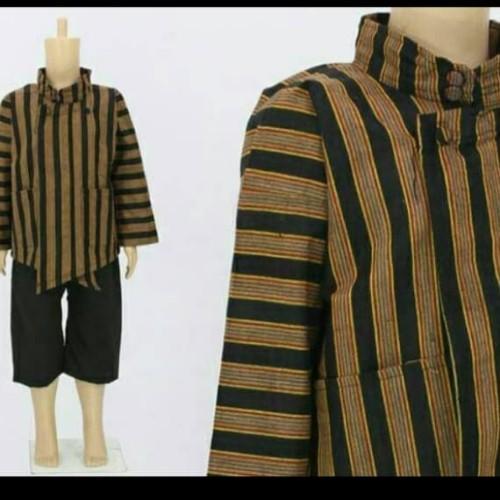 Foto Produk Baju kostum jawa // surjan lurik dewasa - Hitam Coklat, M dari Irwan busana