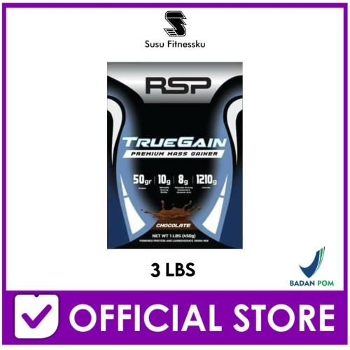 Foto Produk RSP True Gain 3 Lb Mass / Weight Gainer for Serious Bodybuilder dari Susu fitnessku
