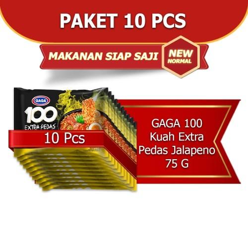 Foto Produk GAGA 100 Extra Pedas Kuah Jalapeno 75g (kode1) dari Gaga Official Store