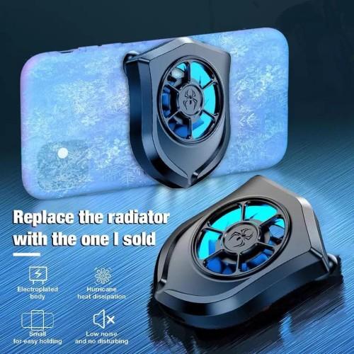 Foto Produk HURRICANE universal mobile cooling fan cooler radiator MLBB PUBG CODM dari xrbshop168