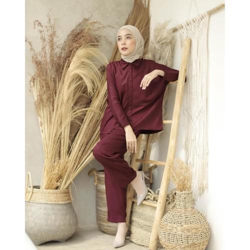 Foto Produk Baju Gamis Set Syari Wanita Terbaru Azumi Syari Baju Setelan Muslim dari Grosir Hijabers