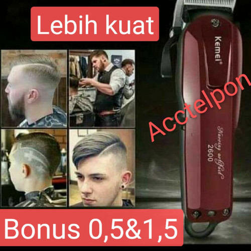 Foto Produk KEMEI KM-2600 Professional Rechargeable Electric Hair Clipper Cordless - km 2600 dari acctelpon