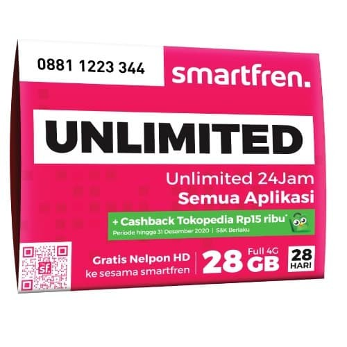 Foto Produk SMARTFREN UNLIMITED PERDANA 4G LTE GRATIS CASHBACK TOKOPEDIA 15 RIBU dari Smartfren Official Store