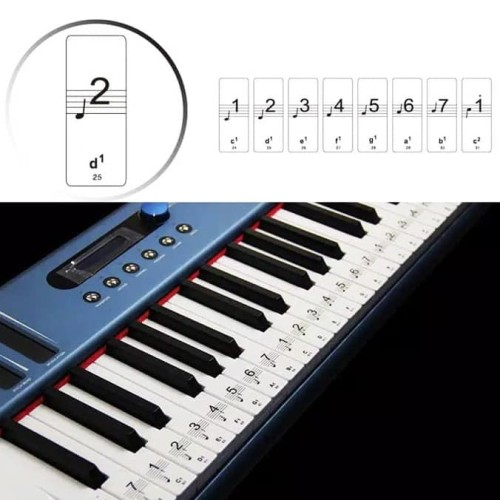 Foto Produk Stiker Label Tuts Nada Keyboard Piano Notes Practice Sticker SV-88 dari BRANDOS