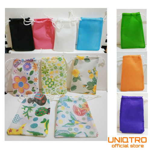 Foto Produk Pouch Serut Souvenir 10x15, Souvenir Pesta - Random dari uniqtro