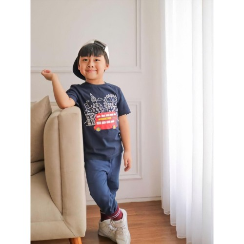 Foto Produk Moosca Kidswear London T-Shirt | Kaos Anak | Navy - XXL dari Moosca Kidswear