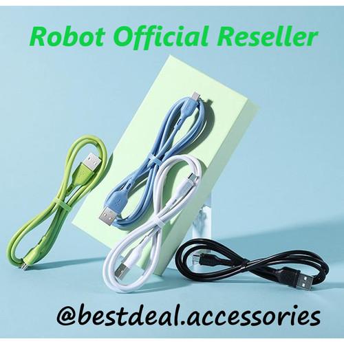 Foto Produk Kabel Data Robot RBM100 Micro USB Data Cable (Per Pcs) - Putih dari bestdeal official