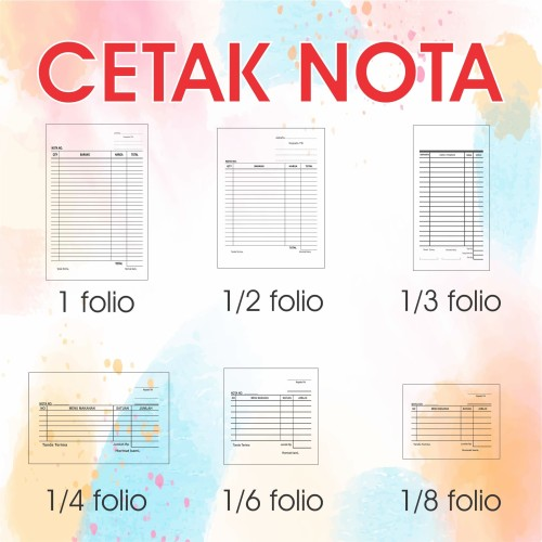 Foto Produk Cetak Nota Bon 3 Rangkap/Ply Carbonless Tanpa Karbon + Nomerator - Standart dari Aneka Offset Printing