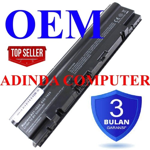 Foto Produk Baterai Asus Eepc Eee PC 1025 1025C 1025CE 1225 1225B 1225C R052 OEM dari Adinda Computer