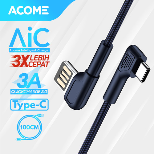 Foto Produk ACOME Gaming Cable Data TYPE-C Fast Charging Kabel Data QC3.0 3A - Type-C dari Acome Indonesia