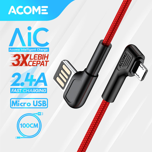 Foto Produk ACOME Gaming Cable Data Fast Charging Kabel Data Micro USB QC3.0 3A - Micro USB dari Acome Indonesia