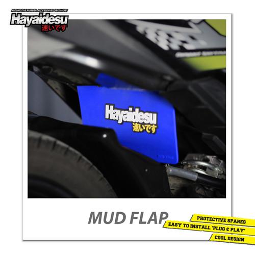 Foto Produk Hayaidesu Mud Flap Penahan Lumpur Motor Honda Beat FI - Japan Quality - Biru dari Hayaidesu Indonesia