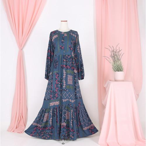 Foto Produk Nafashakila Kaimma Flowers Home Dress - Biru dari nafashakila