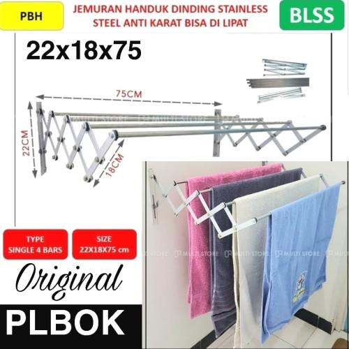 Foto Produk PLBOK SINGLE JEMURAN DINDING LIPAT STAINLESS STEEL RAK HANDUK dari BLSS