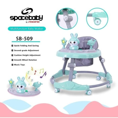 Foto Produk Space Baby Baby Walker Sb 509 Alat Bantu Belajar Jalan Bayi murah - Hijau dari sevenkado