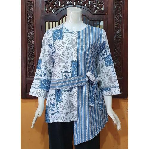 Foto Produk Atasan Blouse Batik MOSA Wanita Panjang Motif IDG 16 Pekalongan -272 - M dari Mosa Batik