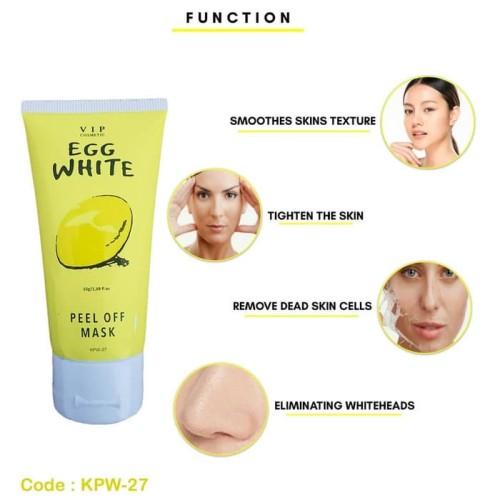 Foto Produk VIP COSMETIC EGG WHITE PEEL OFF MASK - MASKER TELUR VIP - MASKER WAJAH dari Cenny Store