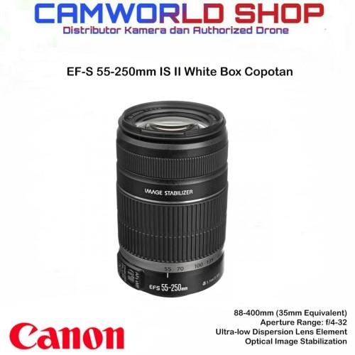 Foto Produk Lensa Canon 55-250mm IS II - lensa Copotan white box dri 1300D dari Camworld Shop