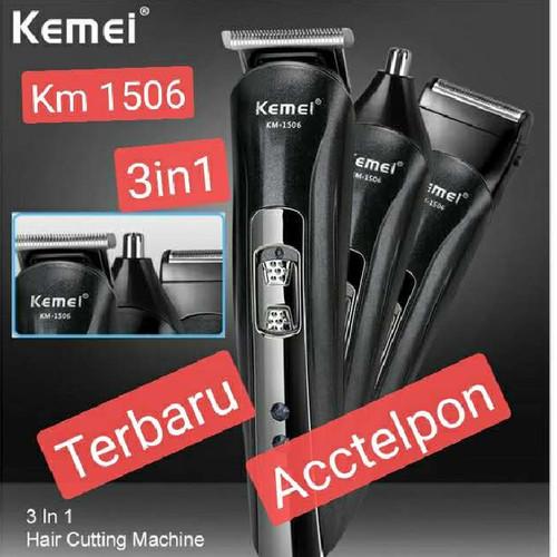 Foto Produk clipper kemei km 1506 3 in 1 alat cukur rambut hidung kumis dari acctelpon