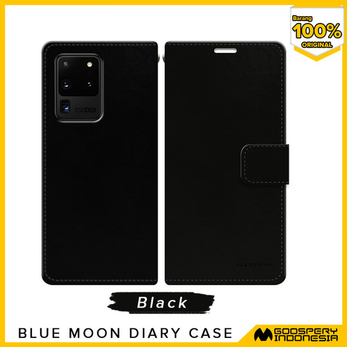 Foto Produk [FLASH SALE] Goospery Blue Moon Diary Case For All Type Handphone - Black dari Goospery Indonesia