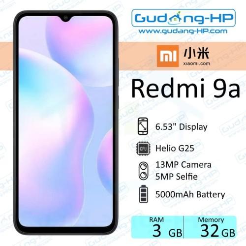Foto Produk Xiaomi Redmi 9A 3/32 GB Garansi Resmi - Abu-abu dari Gudang-HP