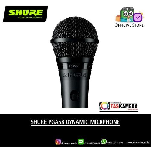 Foto Produk SHURE PGA58 LC Vocal Microphone - SHURE Microphone dari taskamera-id