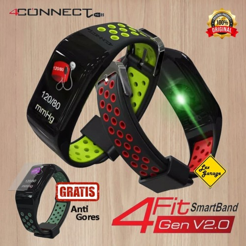 Foto Produk 4CONNECT 4Fit Smart Band Blood Pressure Oxigen Monitor Original dari Lex Garage