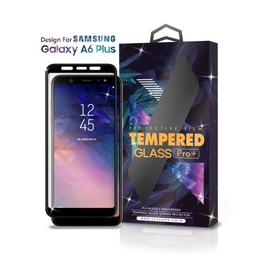 Foto Produk Tempered Glass SAMSUNG Galaxy A6 Plus Full Cover Black - Glass Pro dari Glass Pro Indonesia