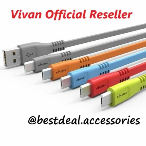 Foto Produk Vivan CSM100 Micro USB 100cm Data Cable / Kabel Data Original - Abu-abu dari bestdeal official