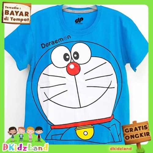 Foto Produk Baju/Kaos Anak Motif Doraemon 1-10 th - Biru Muda, 3-4 tahun dari Dkidzland