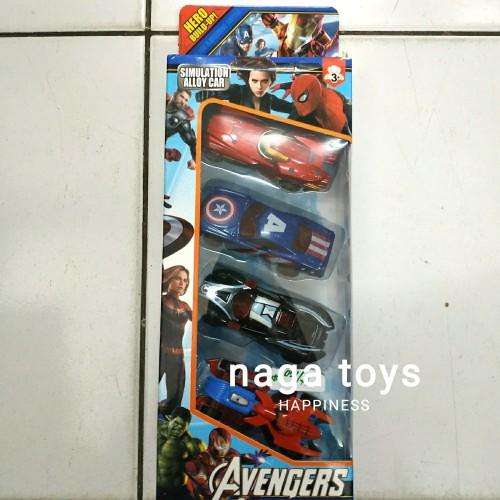 Foto Produk Mainan mobil Avenger Marvel diecast / Avengers car 4pcs/ isi 4 dari naga_toys