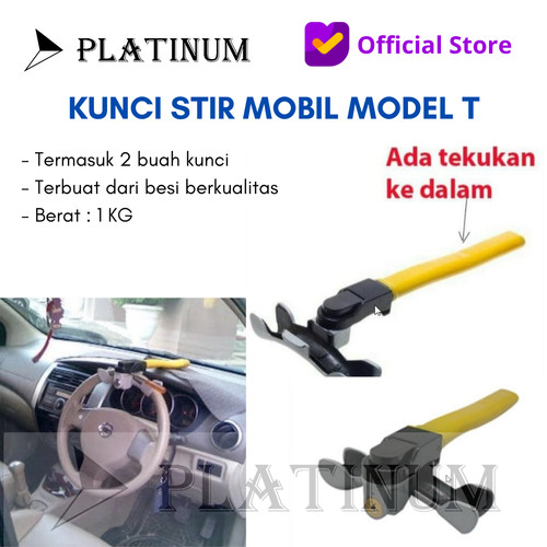 Foto Produk KUNCI STIR SETIR MOBIL / KUNCI PENGAMAN STANG MOBIL UNIVERSAL CH 830 dari PLATINUM CAR PARTS