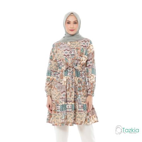 Foto Produk Atasan Muslim Wanita | Kirana Tunik Cokelat | S M L XL | Monalisa - Size 1 dari Tazkia Hijab Store