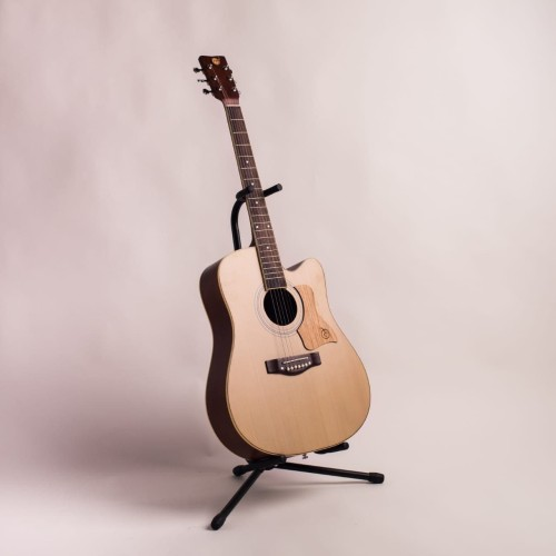 Foto Produk Gitar Akustik Mandalika L-02 Natural Original Full Set dari sarabeautycare and music