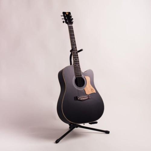 Foto Produk Gitar Akustik Mandalika L-02 Hitam Original Full Set dari sarabeautycare and music