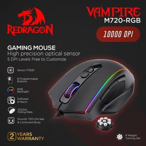 Foto Produk Redragon M720-RGB Gaming Mouse RGB Vampire dari manekistore