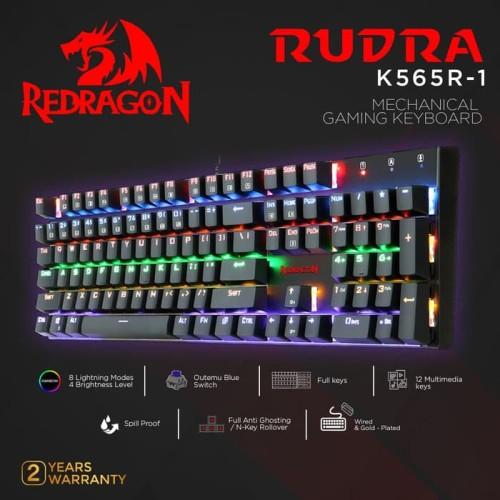 Foto Produk Redragon K565R-1 Mechanical Gaming Keyboard Rainbow RUDRA dari manekistore