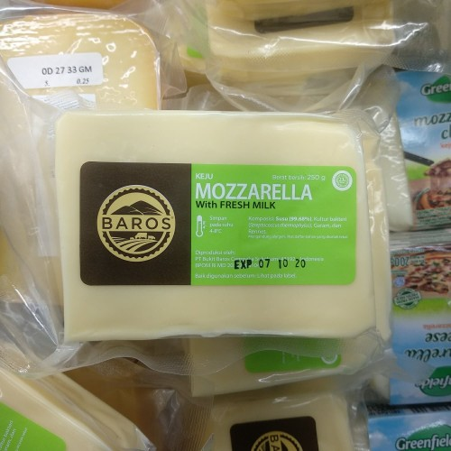 Foto Produk Baros Mozzarella Cheese 250g dari cubeecubee