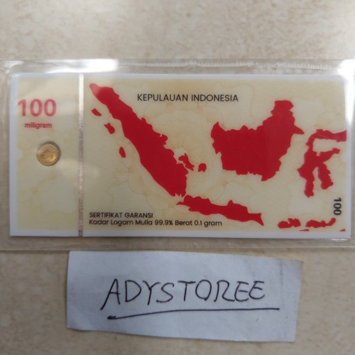 Foto Produk emas mini 0.1gram hartadinata abadi dari adystoree